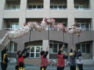 龍踊り演技風景